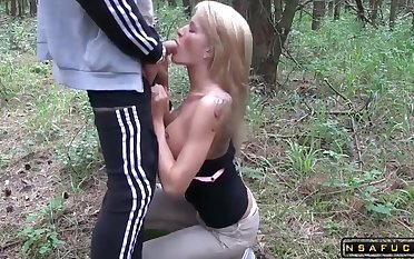 German Stepmom assfucked and facialized in the mountains