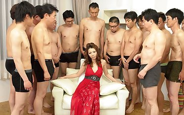 Nagisa Kazami relating to Nagisa Kazami is fucked by so many cocks relating to a gangbang - AvidolZ
