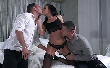 Veritable bitch almost small tits Renata Fox thirsts for some incredibly kinky DP