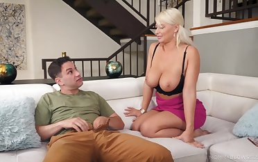 Busty mature London River loves to please her untrained neighbor