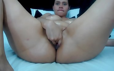 HOT MILF At a loss for words HER CREAM FROM PUSSY ON SKYPE
