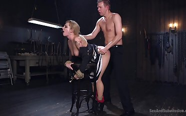 Polished issues appreciation and pain back submissive Dahlia Sky