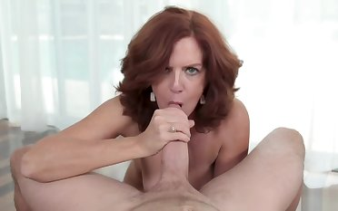 Kyle fills MILF Andis pussy up with his wooden albatross