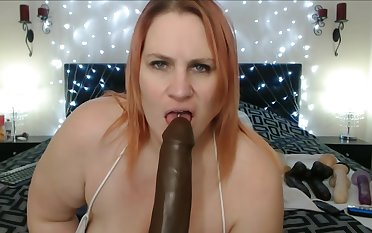 Mature Giant Boobs Loot Double Masturbation Nearby Giant Dildo