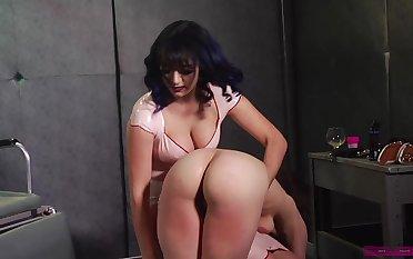 Someone needs a good spanking plus that mistress got some big ass titties