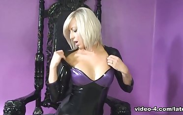 Zoe moorland Dress and Threatening Stockings - LatexHeavenVideo