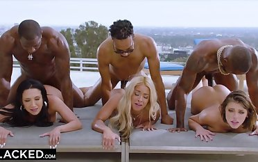 Hot orgy with Teanna Trump, Adriana Chechik, and Vicki Chase