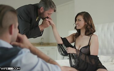 Handsome voyeur is watching old timer fucking his XXX young wife