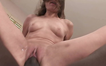 ANAL CREAMPIED: Chunky Treacherous Cock BBC Cums into Tight-fisted Teen Pain in the neck