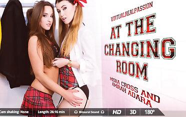 Amirah Adara & Misha Cross in On tap The Changing Room - VirtualRealPassion