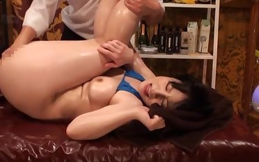 Bikini-clad Asian gripe oiled with an increment of screwed by a skilled lover