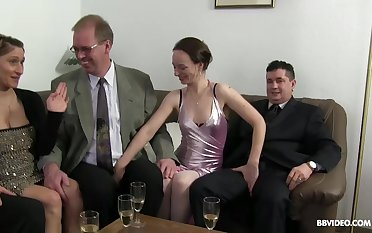 Impassioned fucking not later than a large fuck party with German matures