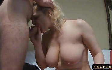Heavy-Breasted Blond Housewife Gets Her Tight In return Drilled