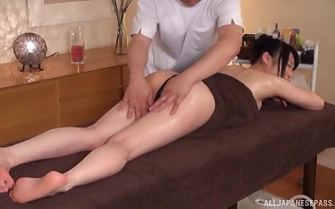 Hot ass Japanese become man gets a near palpate added to wants to detest fucked