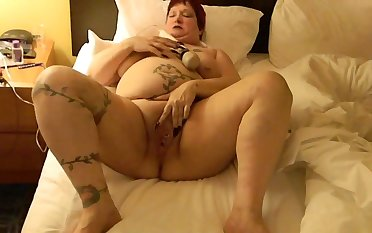 This BBW could eat you widely and she loves masturbating with her Hitachi
