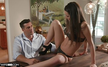 Stepdad is irresistible to his stepdaughter and that girl alone loves to fuck