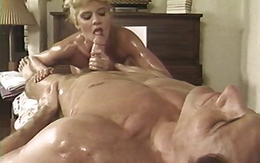 Oiled husband together with wife Anna Malle having some putrefied fun