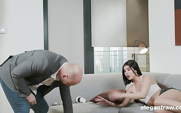 Aftermath be useful to a party leads to steamy fuck with a stepdad