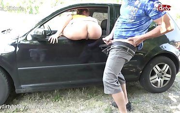 MyDirtyHobby - Tight MILF cosset caught masturbating out like a light away from hiker