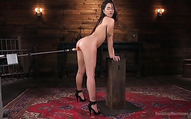 Karlee Venerable feeds her hairy pussy with more than team a few sex toy