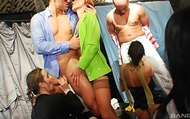 Dissipated decide sex party with lot of swinger couples who love to share