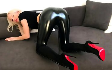 Latex Redhead Jerk Off Recipe Cucumber Roughly Your Ass Joi
