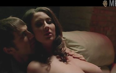 Jessica Paré unfold scenes compilation film over