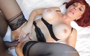 Redhead Of age With Stockings Gets Banged