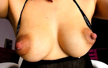 Beamy tit asian day screwing making love toy with erect nipples