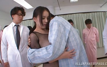 Seductive Asian parcel out Anna Natsuki moans during a MMF troika