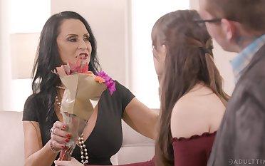 Kinky FFM threesome with mature Rita Daniels plus Alison Rey