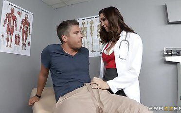 Water down Holly Michaels in uniform loves to have deep anal sex