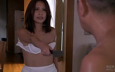 Hot Asian chick had quite rough sex alongside her step- father, in the living field