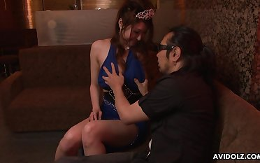 Japanese escort Yuka Kurosawa  is fucked and creampied by two patrons with reference to the night club