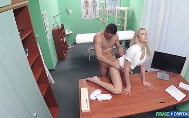 Nurse b like gets laid there hot patient before swallowing jizz