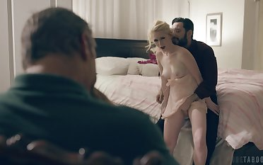 Impudent guy fucks another man's wife and cum on her circumstance