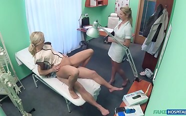 Nurse helps the bastardize with this young pussy