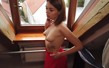 Teen just about epigrammatic saggy tits Keira is masturbating pussy
