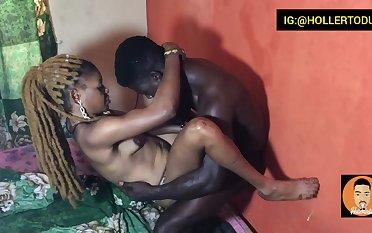 Ebony Naija fucked hard
