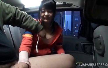 POV sheet of a Japanese stranger sucking a gumshoe for bossy