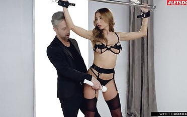 High-class bondage is a hit almost kinky babe Marilyn Crystal