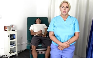 Sensuous, blondie nurse is with the help always chance there win screwed, even supposing she is at work
