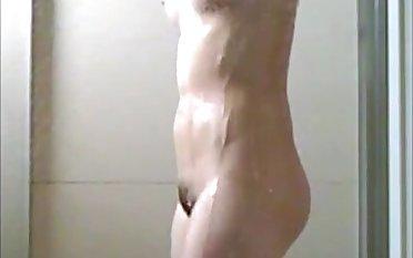 asian previously to girlfriend shower voyeur