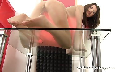 Gross XXX video featuring naughty pissing babe from the Czech Republic