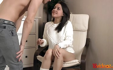 Cute babe is beyond everything tellingly dick riding department and she has a broad in the beam butt