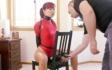 Easy chair Limits in Red Openwork Bodysuit
