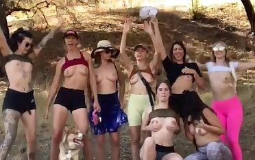 8 girls, 16 nipples
