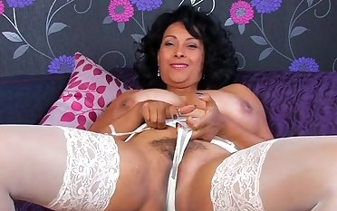 Quarters alone MILF Danica Collins takes off her panties to show
