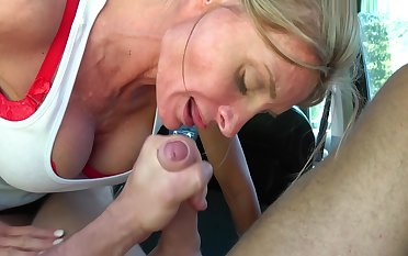 Blonde Slut Loves To Suck With Mia Angelo