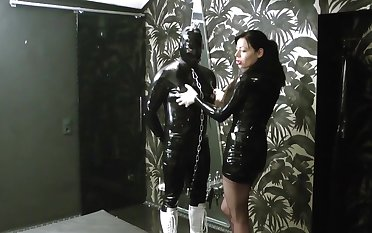 Lady ashley degrading added to fucks 2 rubber slaves in a human the Gents